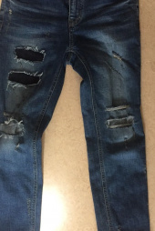 모디파이드(MODIFIED) M#0923 crush repaired crop jeans 후기