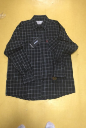 언더에어(UNDERAIR) Oversize Tile Check Shirts - Gray 후기