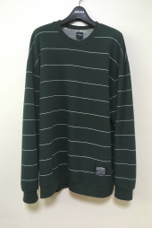 필루미네이트(FILLUMINATE) UNISEX Thin Border Sweat Shirt-Green 후기