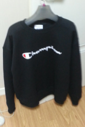 챔피온(CHAMPION) BASIC LOGO CREWNECK (BLACK) 후기