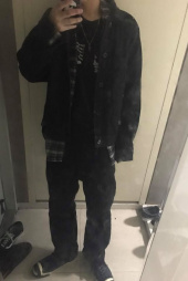 라이풀(LIFUL) DENIM POCKET OVER JACKET washed black 후기