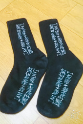 아임낫어휴먼비잉(I AM NOT A HUMAN BEING) Basic Logo Socks - Black 후기