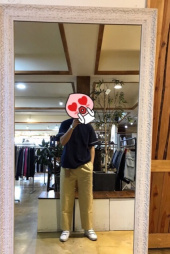 유니폼브릿지(UNIFORM BRIDGE) loose cropped chino pants beige 후기