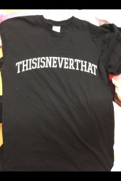 디스이즈네버댓(THISISNEVERTHAT) ARC Logo Tee Black 후기