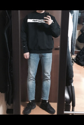 디스이즈네버댓(THISISNEVERTHAT) Stripe SP-Logo Crewneck Black 후기