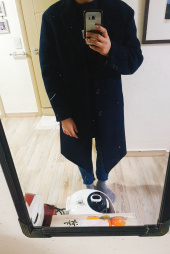 커버낫(COVERNAT) [남/녀] WOOL CASHMERE CHESTER COAT NAVY 후기