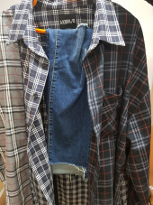 아조바이아조(AJOBYAJO) Over Check Mixed Shirt (Beige) 후기