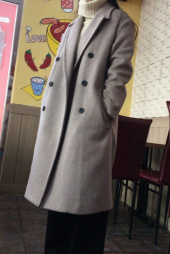 에번라포레(EVANLAFORET) [UNISEX] OVERSIZED DOUBLE LONG COAT OATMEAL 후기