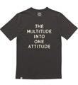 STENCIL SLOGAN T-SHIRT BROWN