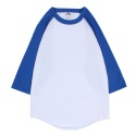 RAGLAN BASEBALL SLEEVE WHITE ROYAL