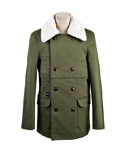 슈퍼컨퓨즈(SUPERCONFUSE) MILITARY BASE FUR COAT (KHAKI)