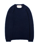 DOTTED KNIT CREW NECK [NAVY]