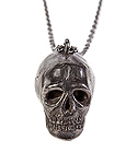엑추얼 페인(ACTUAL PAIN) ACTUAL PAIN HUMAN SKULL NECKLACE BLACK BRONEZE