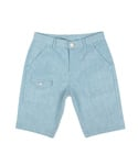 BLEACH HALF PANTS LIGHT BLUE