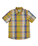 그로스인벤토리(GROSSINVENTORY) CHECK POCKET SHIRTS ORANGE