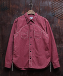 COTTON COVERT WORK SHIRT RED
