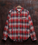 HEAVY FLANNEL CPO JACKET RED