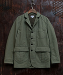 COTTON BACK SATIN SPORT COAT OLIVE