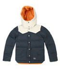 KROSS DOWN JACKET BEIGE NAVY