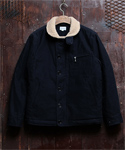 COTTON BACK SATIN DECK JACKET NAVY