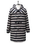 그로스인벤토리() STRIPE DUFFLE COAT BLACK