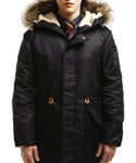 REMEMBRANS N3B HEAVY PARKA BLACK