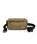 LEATHER POINT WAIST BAG BEIGE