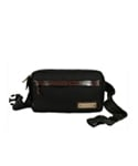 LEATHER POINT WAIST BAG BLACK