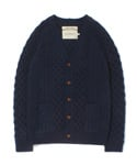 ARAN KNIT CARDIGAN [NAVY]