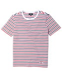 SHORT SLEEVE STRIPE T-SHIRT[WT/NV/RE]