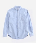 ONE POCKET SHAWL COLLAR SHIRT BLUE