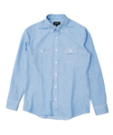 DENIM STRIPE SHIRT [SKY BLUE]