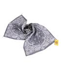 paisley long bandana -black/grey-