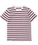 S/S MARINES POCKET T-SHIRT CRANBERRY WHITE