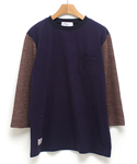 Halfe Sleeve-purple navy
