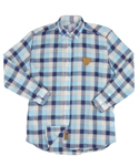 UTS 16 check linen shirts_blue(남여공용)
