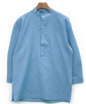 Linen China Pullover shirts blue