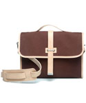 모베가르송(MAUVAIS GARCONS) MV SATCHEL BAG - (Brown)