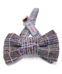 콜록(KOLOK) CA-401 WOOL WHITE CHECK BOW TIE