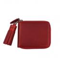 버밀란 [태슬증정] VERMILAN 버밀란 지퍼반지갑 Oil Pull up Leather Zipper Wallet - red