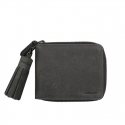 VERMILAN 버밀란 지퍼반지갑 Oil Pull up Leather Zipper Wallet - gray