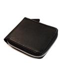 VERMILAN 버밀란 지퍼반지갑 Oil Pull up Leather Zipper Wallet - black