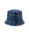 커버낫 COTTON PLAID TRAVELER HAT BLUE