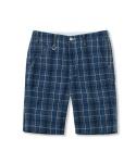 COTTON PLAID SHORT PANTS BLUE