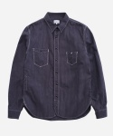 BLACK STRIPE WORK SHIRTS