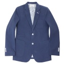 SLIM FIT COTTON BLAZER (BLUE) [HXSMJK001BLU]