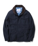 Johnny Shawl Collar Field Jacket Navy