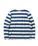 STRIPED ROUND NECK TEE_IV_GR_NY