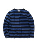 STRIPED ROUND NECK TEE_NY_BL_BK