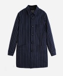 CORDRAIN SHOP COAT NAVY/WHITE